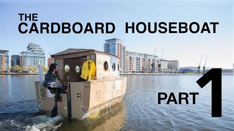How To Make House Boat With Paper - the cardboard houseboat part1