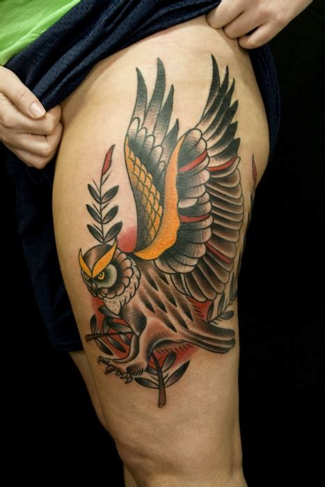 owl tattoo designs thigh 85 best tattoos images on pinterest tattoo ideas design