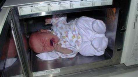 when can i put my baby in a swing mother puts 2 month old baby inside microwave and turns it