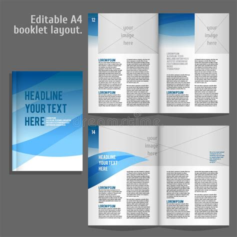 A4 Layout Design Free | a4 book layout design template stock vector image 60031322