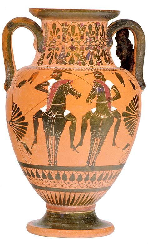 Ancient Greece Vases by Neck Hora Of Olive Gathering By