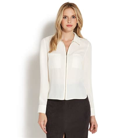 Original Pocket M 048 zipper front pocket shirt shoedazzle