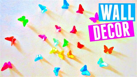 How To Make Origami Hanging Decorations - diy rainbow butterfly room decor how to make an origami