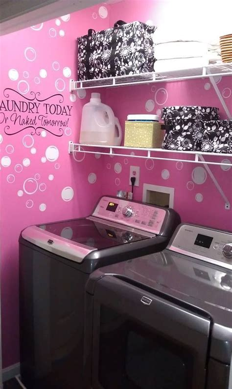 pink laundry pink laundry room home