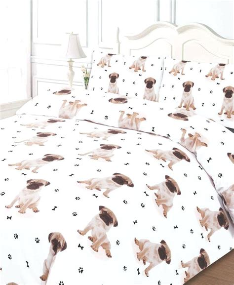 Queen Size White Duvet Cover Dog Print Bed Sheets Restate Co