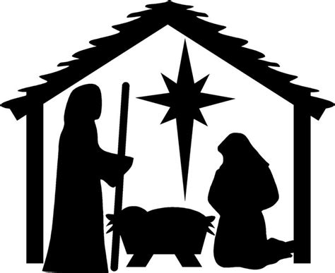 printable vinyl for silhouette nativity christmas wall stickers vinyl decal decor art