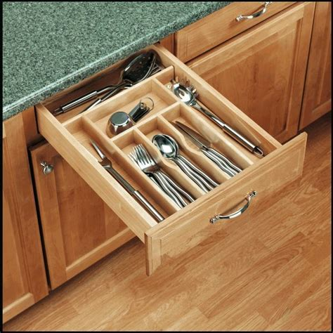 Slim Drawer Cutlery Tray by 20 5 8 Quot Trimmable Wood Cutlery Tray Slim 4wct 3sh Rev
