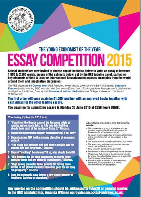 Essay Writing Competition 2015 by Essay Writing Competitions 2