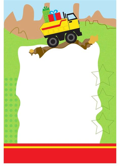 printable birthday cards greetings island birthday truck free printable birthday invitation