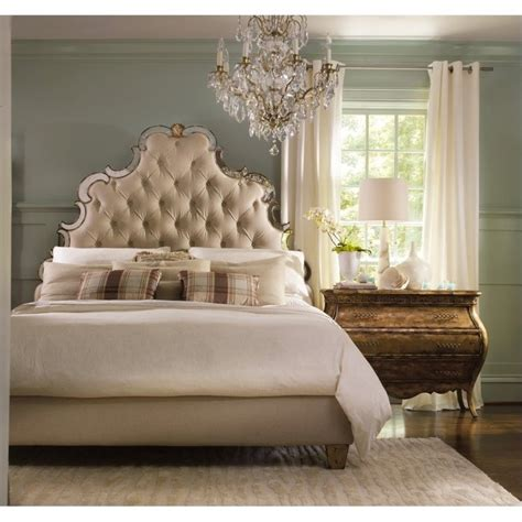 tufted bedroom furniture hooker furniture sanctuary 3 piece tufted bed bedroom set