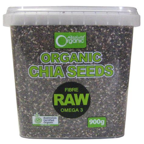 Chia Seeds Black Organic 100 300gr organic chia seed tub 900g eco farms