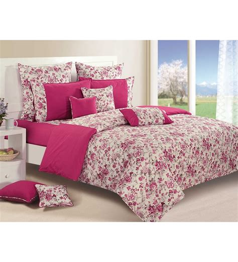 Single Bed Sheet Sets Swayam Magenta Cotton Single Size Bed Sheet Set Of 2 1542993 Best Deals With Price
