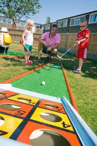 backyard mini golf game backyard kids backyards and outdoor play on pinterest