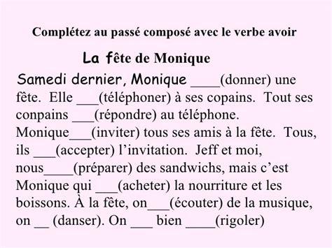 preguntas en frances con quoi french passe compose with avoir and etrer