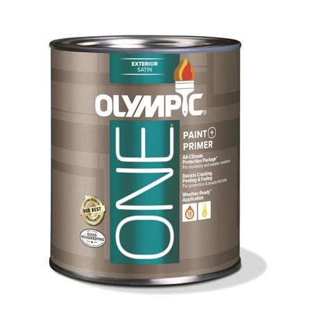 acrylic paint exterior shop olympic one base 1 ultra white satin acrylic exterior
