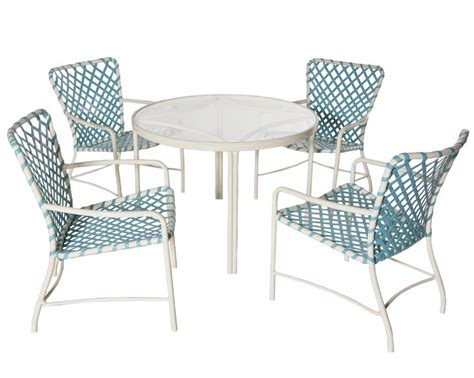 Alu Chair Design Ideas 1960s Iconic Outdoor Furniture Tubular Aluminum With Vinyl Strapping Patio Design