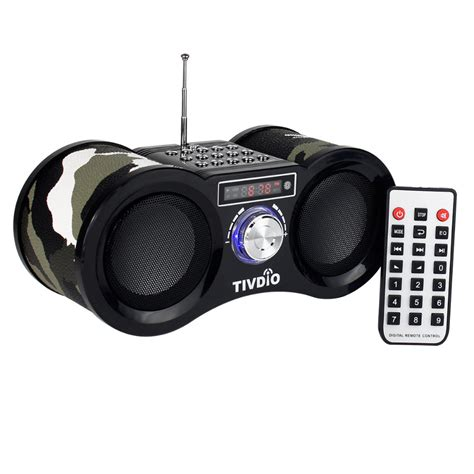Usb Radio camouflage stereo fm radio usb tf card with speaker mp3 player with remote