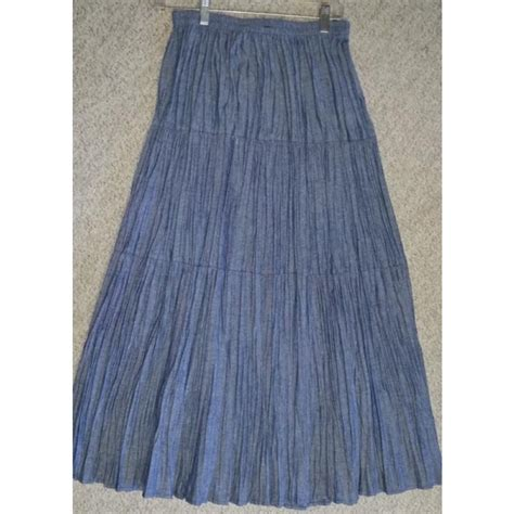 chambray or denim broomstick skirt