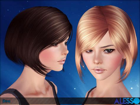 pretty sims cc hairstyles short anto shine hair