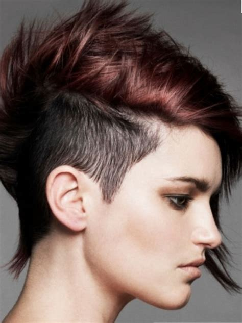 what is the shaved sides and longer on top hairstyle called trendy punky women hairstyle with extrem short hair length