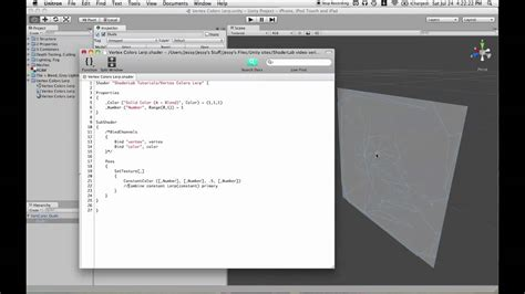 unity tutorial lerp unity ios shaderlab tutorial 4 vertex color lerp youtube