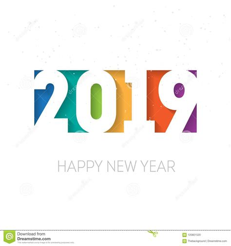 Happy New Year Business Card Template by Happy New Year 2019 Greeting Card Or Calendar Cover