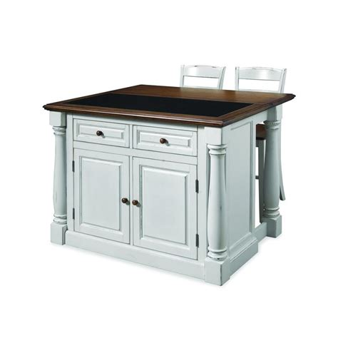 home styles monarch white kitchen island with seating