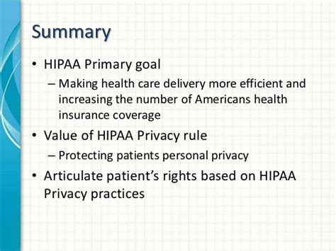 Hipaa Privacy Rights The Hipaa Privacy Rule Patients Rights Privacy Rights