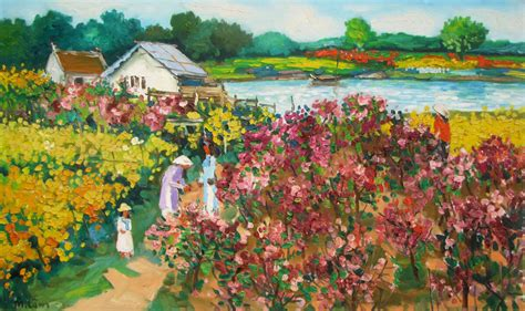 garden paintings by artists garden ftempo