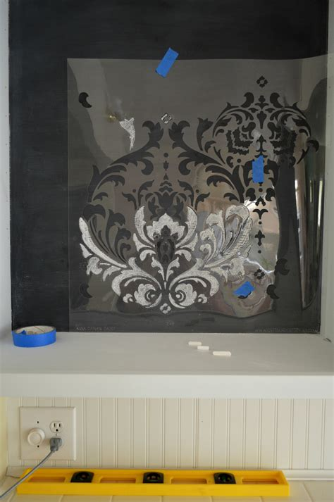 chalkboard paint stencils how to stencil with chalk tips to get it right fox