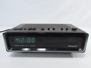vintage panasonic rc 95 digital alarm clock radio date