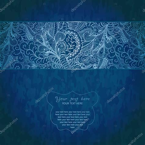 Invitation card on grunge background with lace ornamen