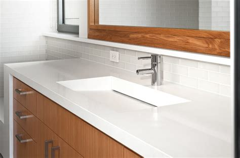 Caesarstone Vanity by Caesarstone Bathroom Modern Bathroom