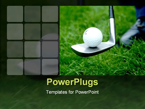 golf powerpoint template golf 0320 powerpoint template background of golf sport