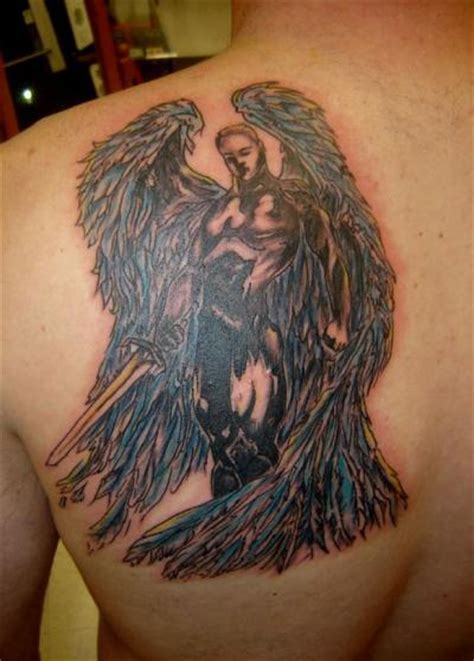 front shoulder tattoos for men archangel on front shoulder