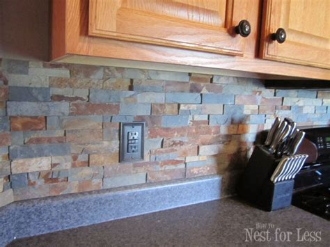 How To Do A Kitchen Backsplash Tile by 4 Diy Stone And Pebble Kitchen Backsplashes To Make