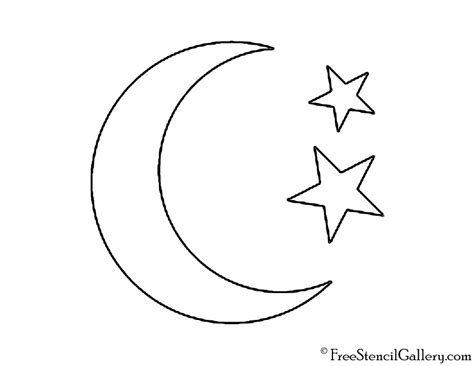 printable weather stencils weather icon moon and stars stencil free stencil gallery