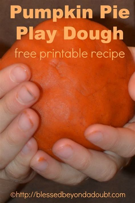 printable pumpkin recipes pumpkin pie play dough with printable recipe activities