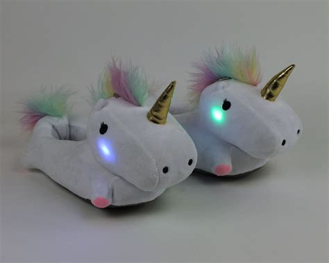 house shoes with lights unicorn light up slippers unicorn slippers