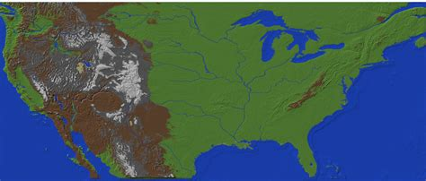 america heightmap large and accurate map of america groups