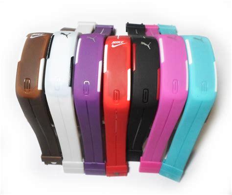 Jam Tangan Gelang Led Maghnet Adidas Nike 1 jual jam tangan led magnet nike adidas warna warni