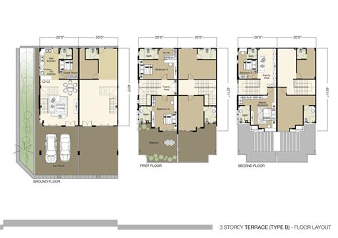 floor plan 3 storey commercial building 3 story house floor plans imagearea info pinterest