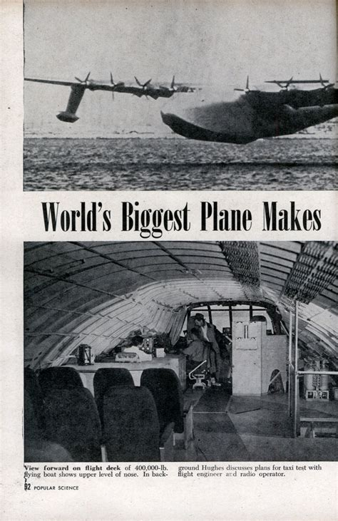 World's Biggest Plane Makes First Flight – Spruce Goose ... World's Biggest Nose Pictures