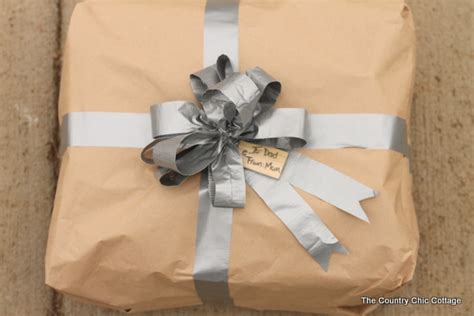 Plain Gift Wrap - gift wrap for men using duct tape from homedepot the country chic cottage