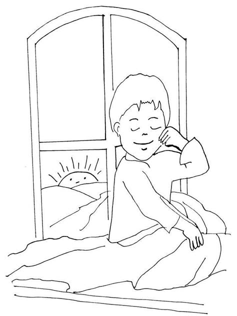 get up coloring page bed coloring sheet coloring home