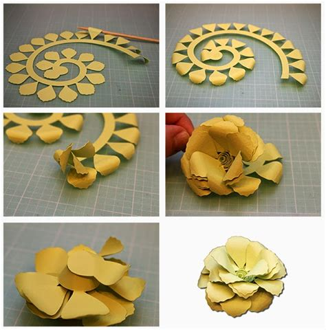 How To Make Rolled Paper Flowers - bits of paper rolled paper flowers
