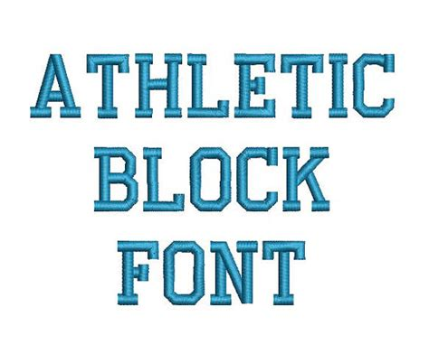 Wedding Font Block by Athletic Block Machine Embroidery Font Monogram Alphabet 3