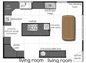 Large Kitchen Floor Plans by Our Kitchen Floor Plan A Few More Ideas Andrea Dekker