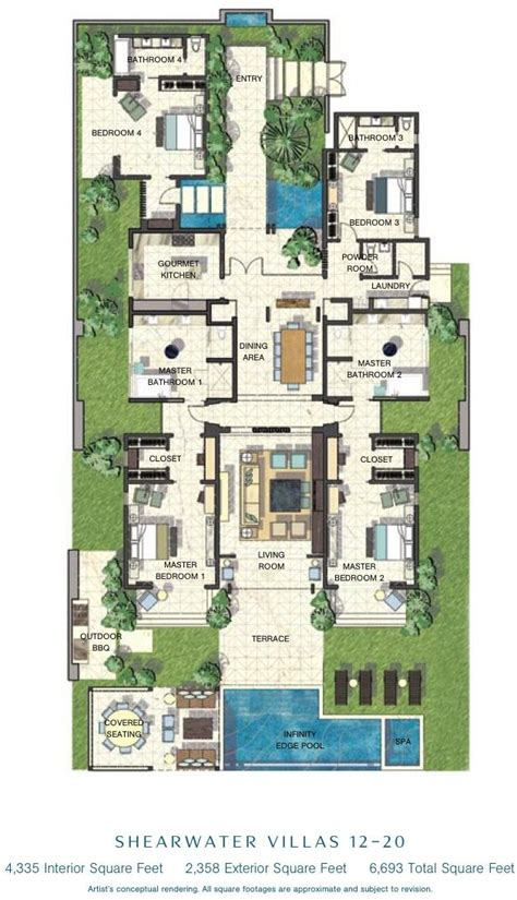 caribbean villa floor plans search floor plans