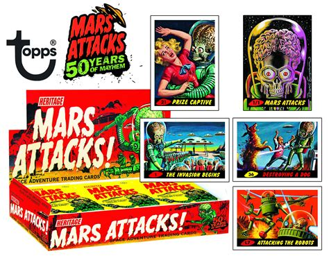 Gift Card Trading - mars attacks trading cards merchandise horrorpedia